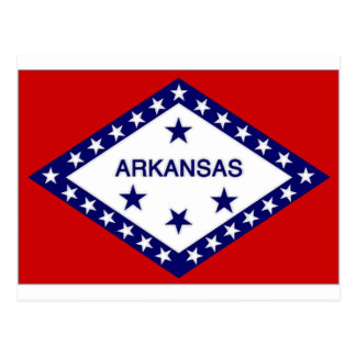 United States Arkansas Flag Postcard