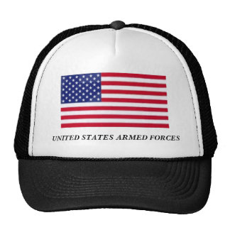 UNITED STATES ARMED FORCES TRUCKER HAT