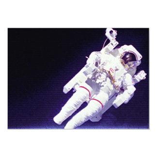 United States Astronaut 13 Cm X 18 Cm Invitation Card