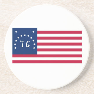 United States Bennington Flag Spirit of 76 Drink Coasters