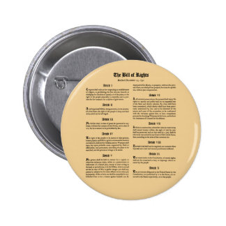 United States Bill of Rights 6 Cm Round Badge
