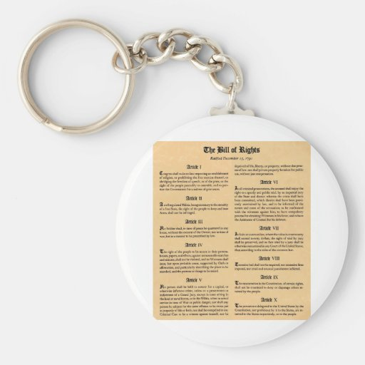 United States Bill of Rights Key Chains