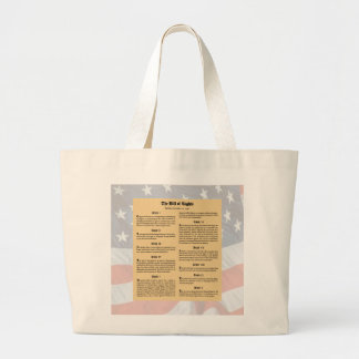 United States Bill of Rights Large Tote Bag