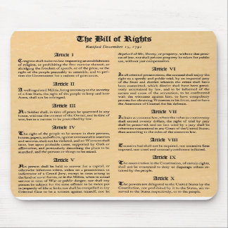 United States Bill of Rights Mousepads