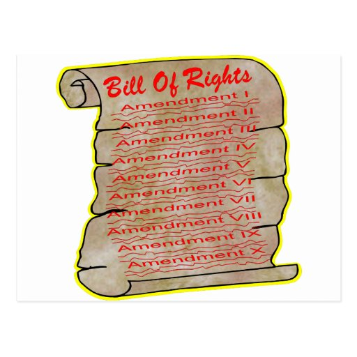 United States Bill Of Rights Post Card