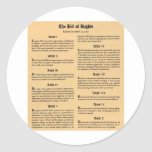 United States Bill of Rights Sticker