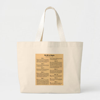 United States Bill of Rights Tote Bags