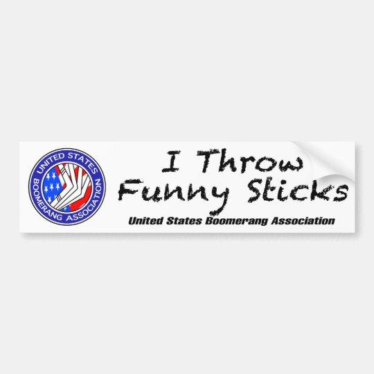 United States Boomerang Association bumper sticker