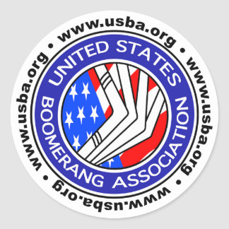 United States Boomerang Association round sticker4 Classic Round Sticker