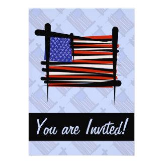 United States Brush Flag Cards