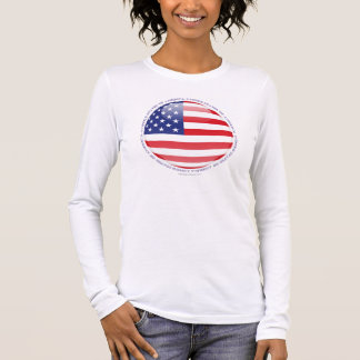 United States Bubble Flag Long Sleeve T-Shirt