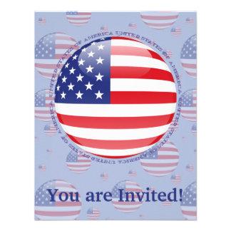 United States Bubble Flag Personalized Invite