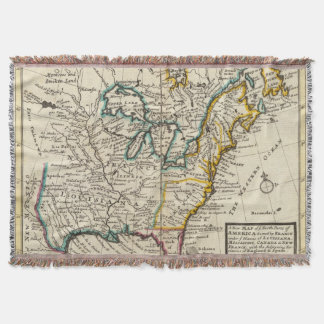 United States, Canada, North America Throw Blanket