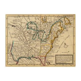 United States, Canada, North America Wood Wall Decor