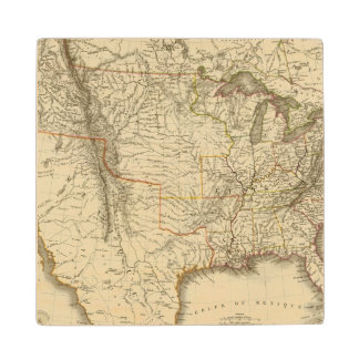 United States, Canada Wood Coaster