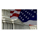 United States Capital & Flag Business Card Template