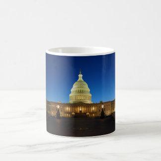 United States Capitol Building at Dusk Basic White Mug