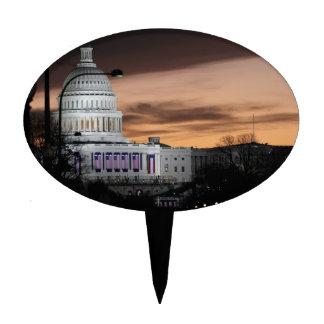United States Capitol Building at Dusk Cake Picks
