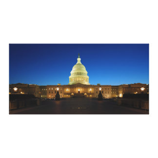 United States Capitol Building at Dusk Gallery Wrapped Canvas