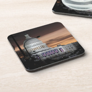 United States Capitol Building at Dusk Drink Coasters