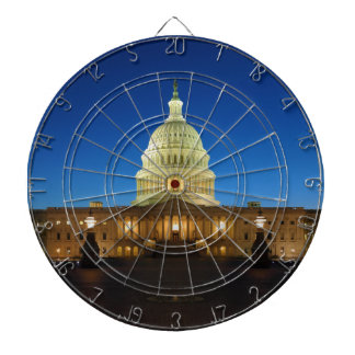 United States Capitol Building at Dusk Dart Board