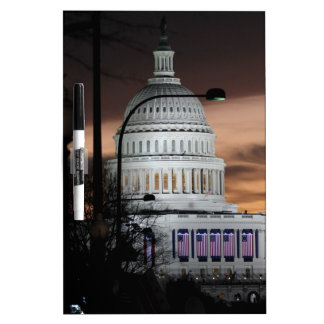 United States Capitol Building at Dusk Dry Erase Whiteboards