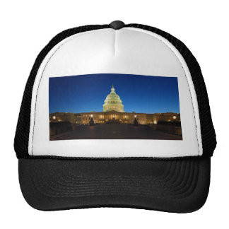 United States Capitol Building at Dusk Mesh Hat
