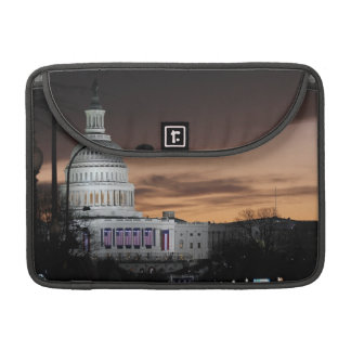 United States Capitol Building at Dusk Sleeve For MacBooks