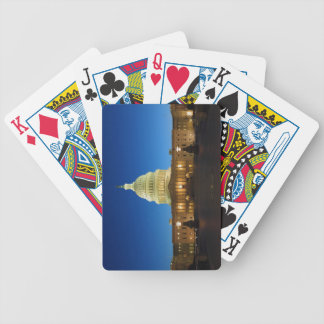 United States Capitol Building at Dusk Bicycle Playing Cards