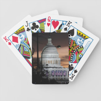 United States Capitol Building at Dusk Poker Deck
