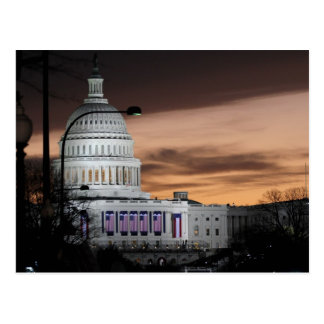 United States Capitol Building at Dusk Postcard