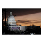 United States Capitol Building at Dusk Posters