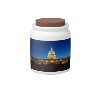 United States Capitol Building at Dusk Candy Jars
