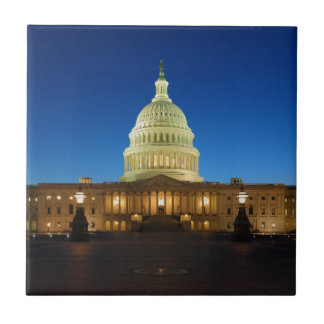 United States Capitol Building at Dusk Tiles