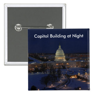United States Capitol Building at Night Pins