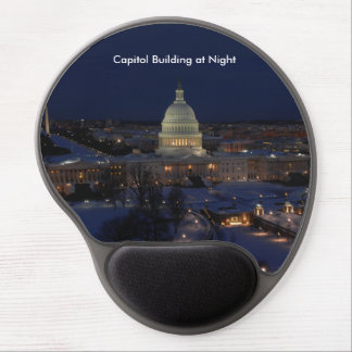 United States Capitol Building at Night Gel Mouse Pad