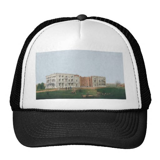 United States Capitol Building Being Rebuilt 1814 Hat