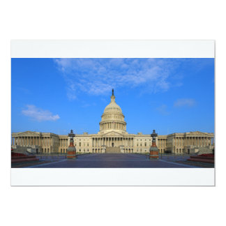 United States Capitol Building East Side 13 Cm X 18 Cm Invitation Card