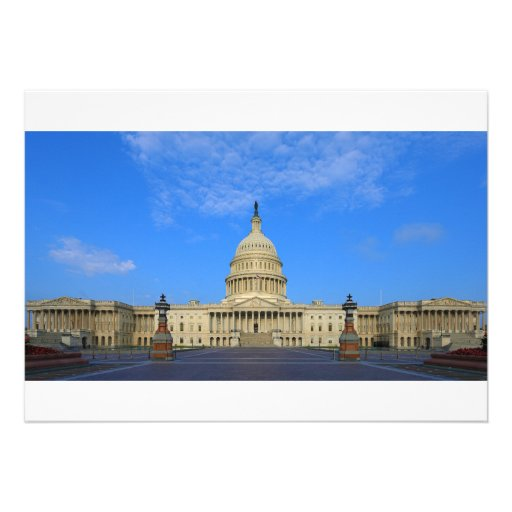 United States Capitol Building East Side Custom Invites
