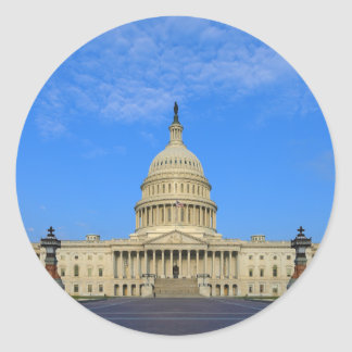 United States Capitol Building East Side Round Sticker