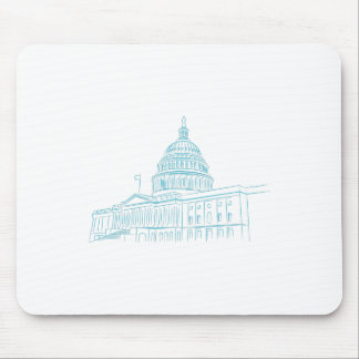 United States Capitol Building Landmark Mouse Pad