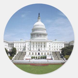 United States Capitol Building Round Sticker