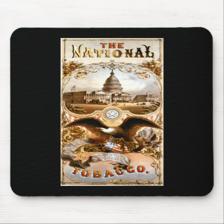 United States Capitol & Eagle Vintage Ad Mouse Pads