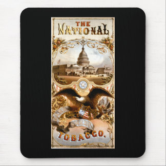 United States Capitol & Eagle Vintage Ad Mouse Pad