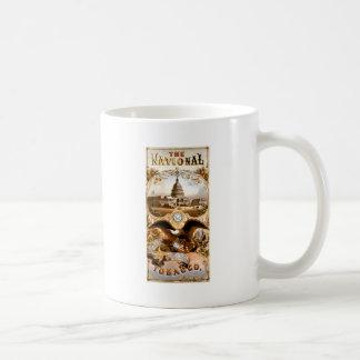 United States Capitol & Eagle Vintage Ad Mugs