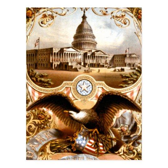 United States Capitol & Eagle Vintage Ad Postcard