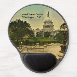 United States Capitol from Library Steps Date 1898 Gel Mouse Pad