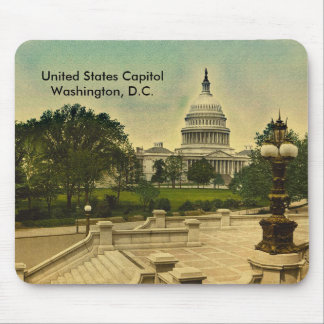 United States Capitol from Library Steps Date 1898 Mouse Pad