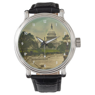 United States Capitol from Library Steps Date 1898 Wrist Watches