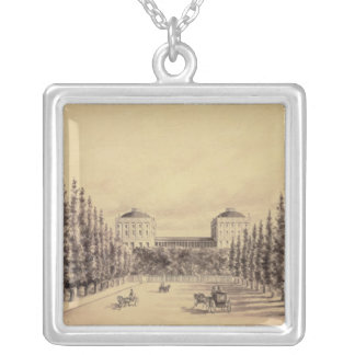 United States Capitol from Pennsylvania Avenue Silver Plated Necklace